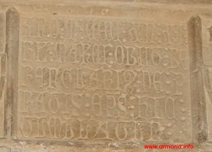 Lapida del obispo Berenguer de Prat