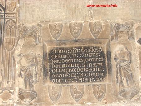 Lapida del canónigo Spuny. s. XIv