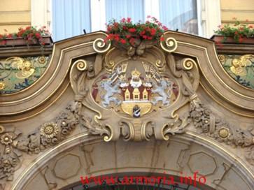 Escudo de la ciudad de Praga. Barrio Malá Strana